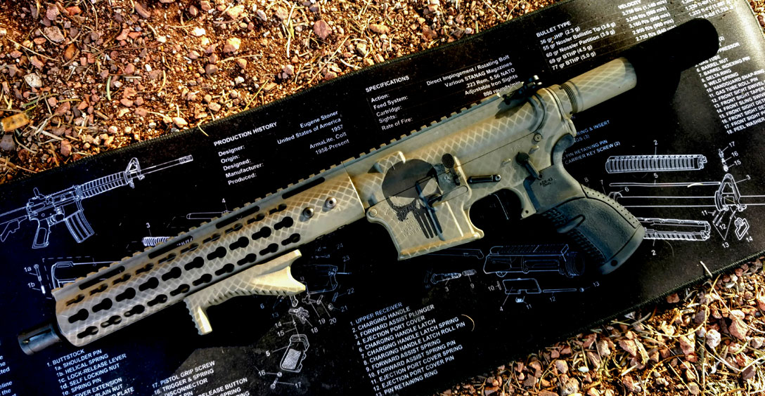 AR-15 Pistol with Punisher and Diamondback Duracoat Finish