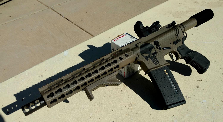 AR-15 Punisher Snake-Skin Pistol Test Fire Video